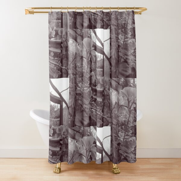 English Garden -  Geranium BW Shower Curtain