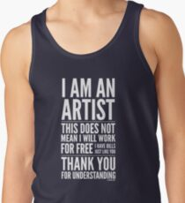 I Am an Artist Collection by Graphic Snob® Men's Tank Top