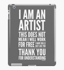 I Am an Artist Collection by Graphic Snob® iPad Case/Skin
