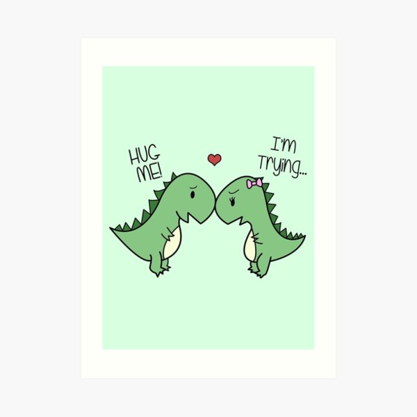 Dino Love! (¡Abrázame!) Lámina artística