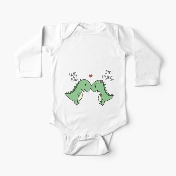Dino Love! (Hug Me!) Long Sleeve Baby One-Piece