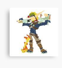 Jak and Daxter - Scribble Art Canvas Print