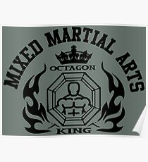 MMA Mixed Martial Arts Octagon King Poster