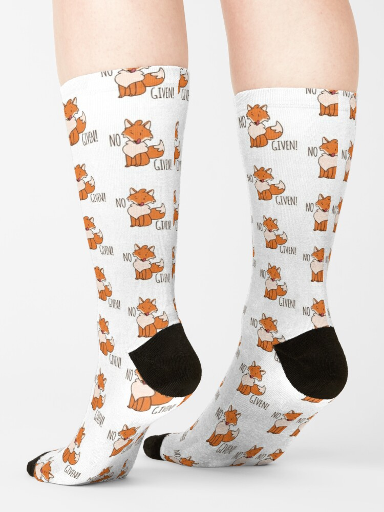 Alternate view of No Fox Given! Socks
