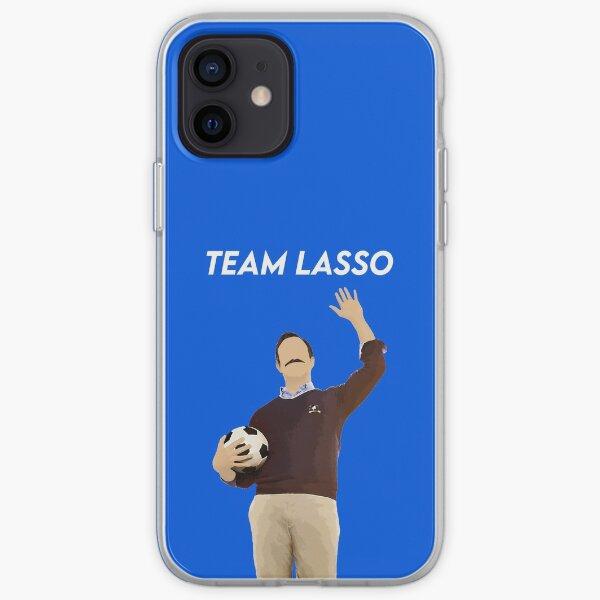 Illustration bleue de l'entraîneur de football Coque souple iPhone