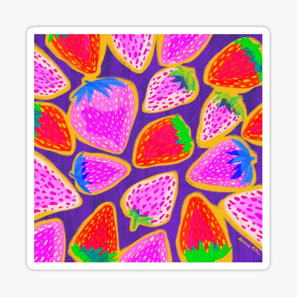 Strawberry Burst Sticker