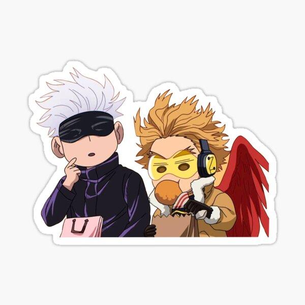 Gojo and Hawks chibis Sticker