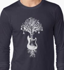 Nature Guitar White Tree Music Banksy Art T-Shirt