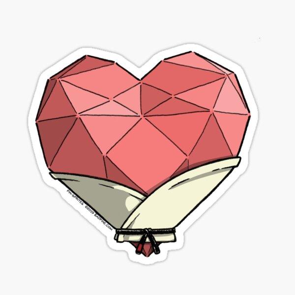 Pin-Sprites - Heart in a Gi - Color/No-Face Sticker