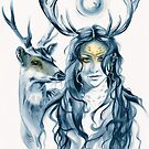 Deer Totem by Michelle Tracey