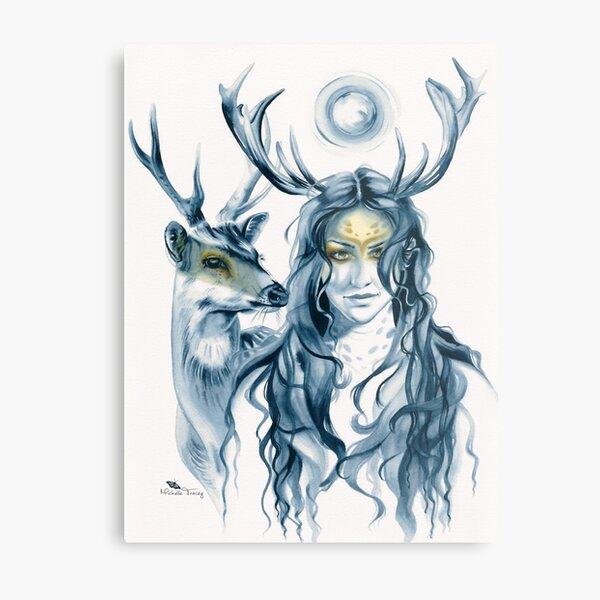 Deer Totem Metal Print