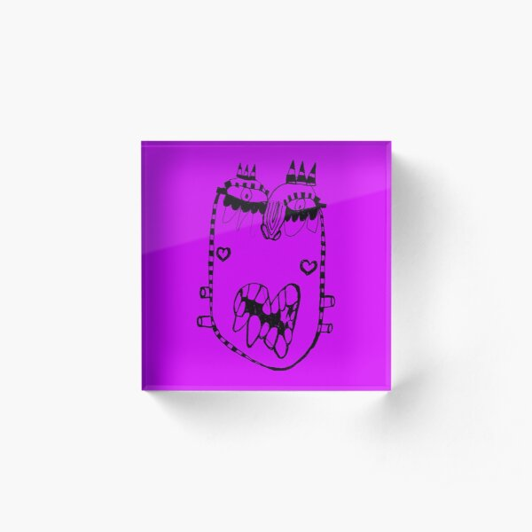 Neon Faces 5 Acrylic Block