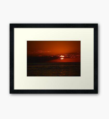January Sanibel Sunset  Framed Print