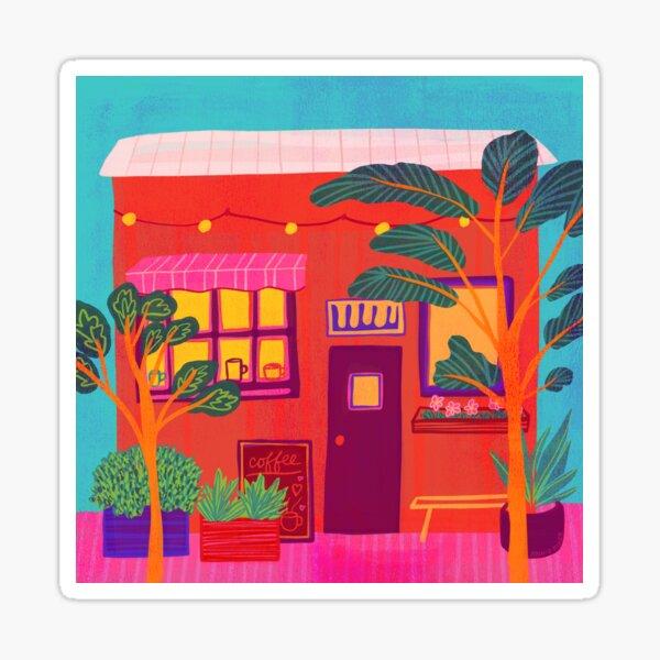Tropical Coffee Shop Sticker