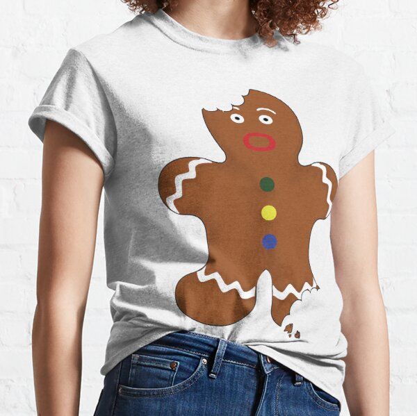 Gingerbread Man With Bite Classic T-Shirt