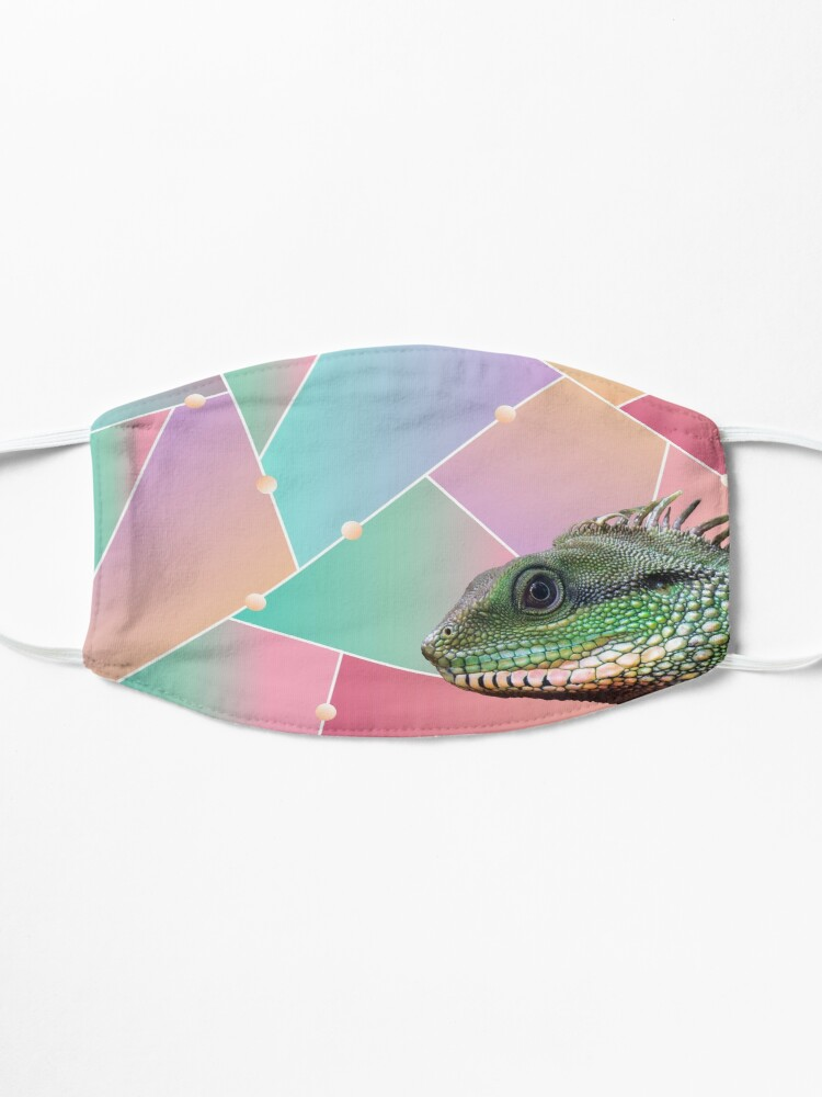 Alternate view of Geometric Pattern Chinese Water Dragon Mask