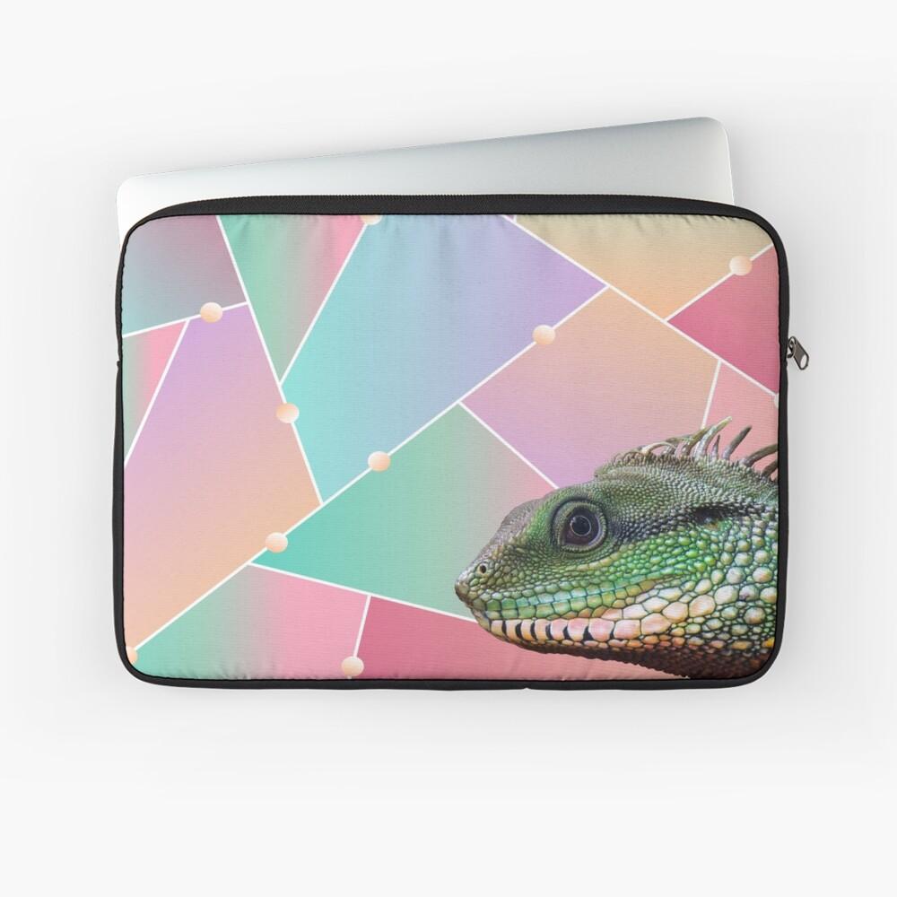 Geometric Pattern Chinese Water Dragon Laptop Sleeve