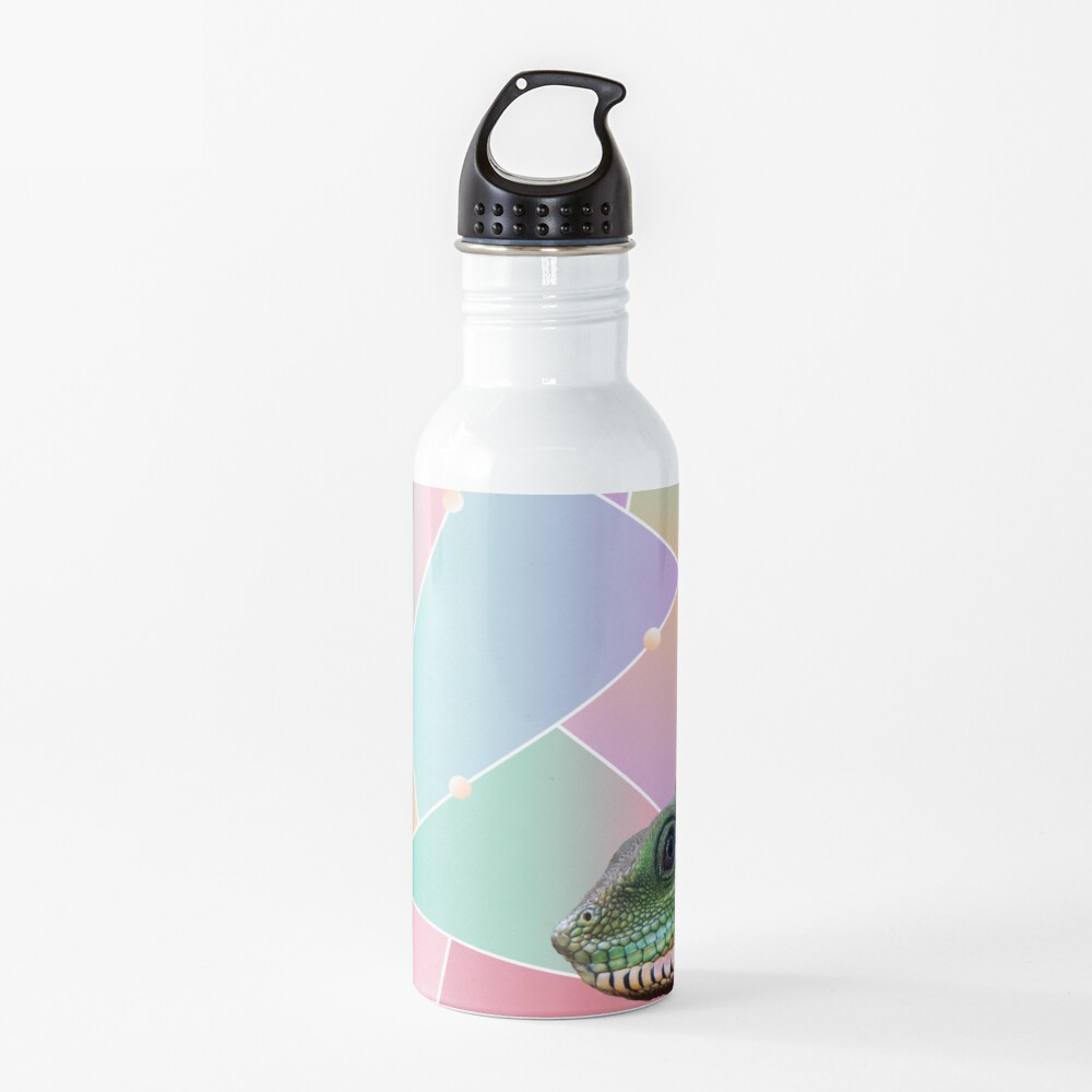 Geometric Pattern Chinese Water Dragon Water Bottle