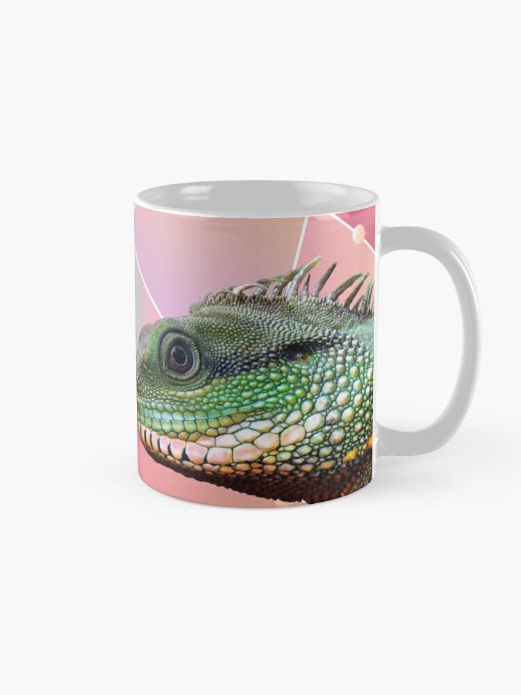 Alternate view of Geometric Pattern Chinese Water Dragon Mug