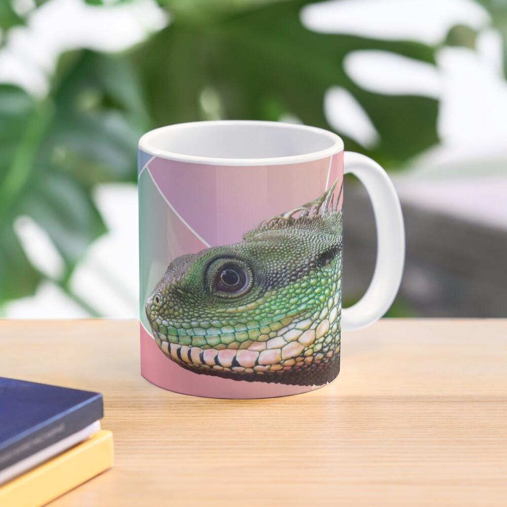Geometric Pattern Chinese Water Dragon Mug