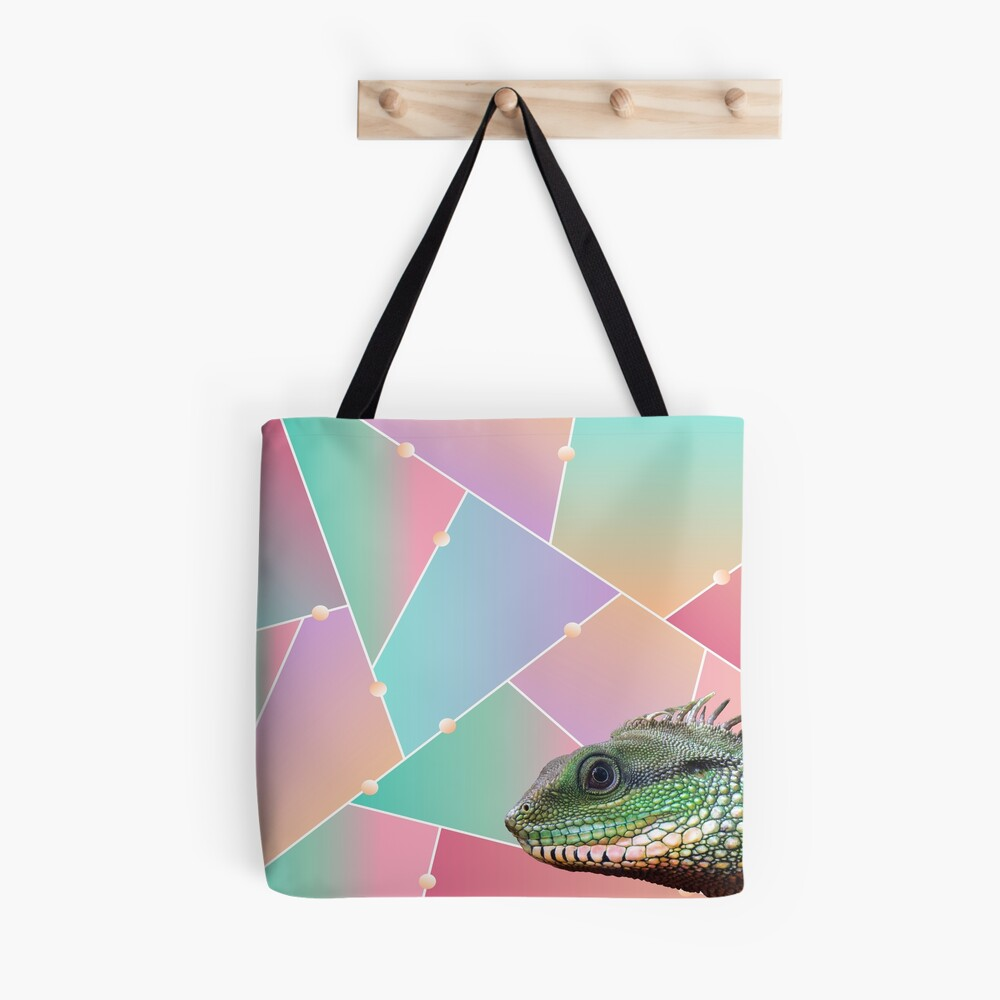 Geometric Pattern Chinese Water Dragon Tote Bag
