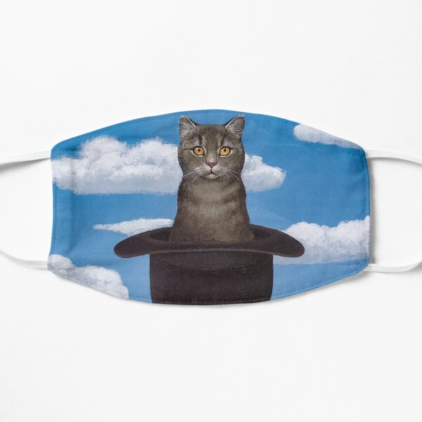 Rene Magritte Cat in the Hat  Flat Mask