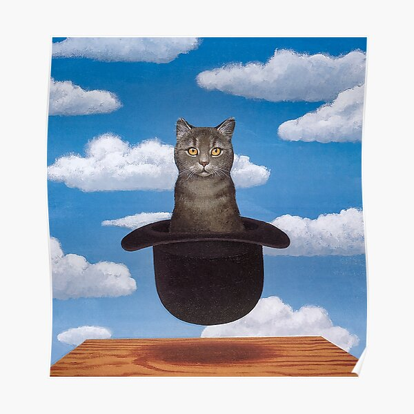 Rene Magritte Cat in the Hat  Poster
