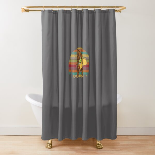 Sasquatch Loves Tacos Shower Curtain
