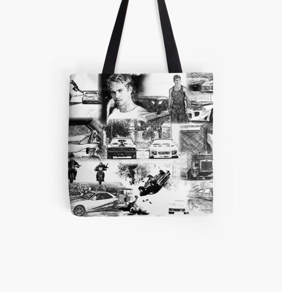 The Fast and the Furious Collage All Over Print Tote Bag