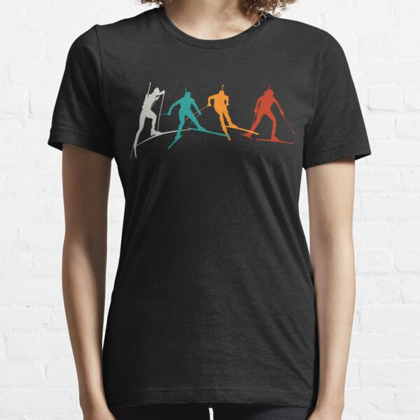 Biathlon winter sport combines cross-country skiing and rifle shooting Essential T-Shirt