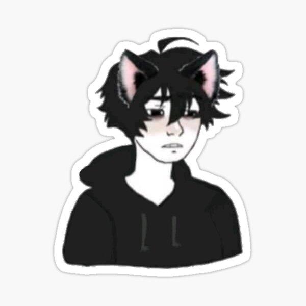 Doomer catboy Sticker