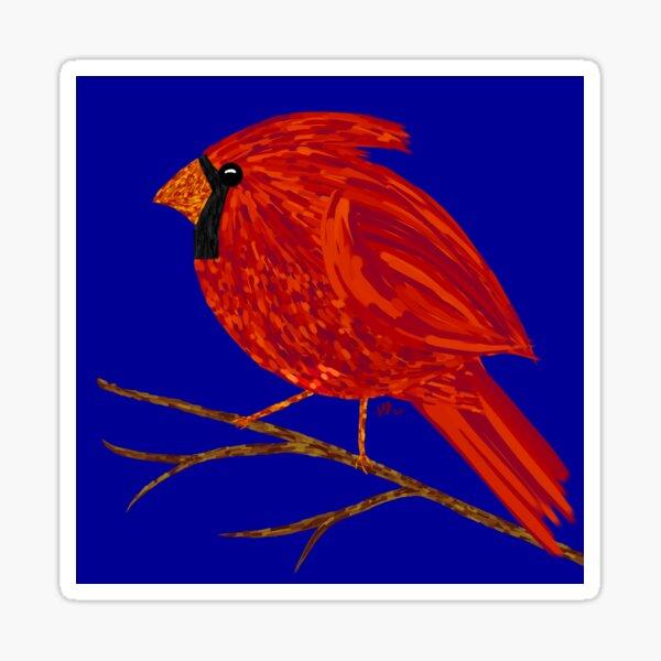 Cheerful Cardinal print Sticker