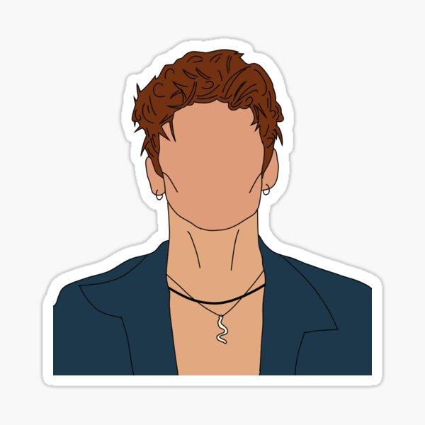 vinnie hacker portrait Sticker