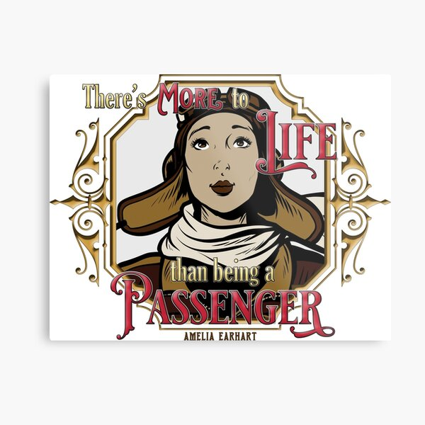 There's More To Life Than Being A Passenger, wht bkd Metal Print