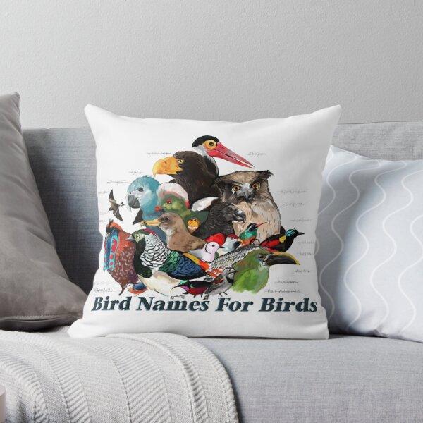 Bird Names For Birds Throw Pillow