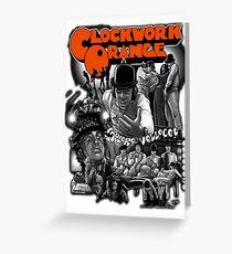 Clockwork Orange Graphic Greeting Card