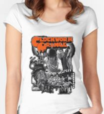 Clockwork Orange Graphic Women's Fitted Scoop T-Shirt
