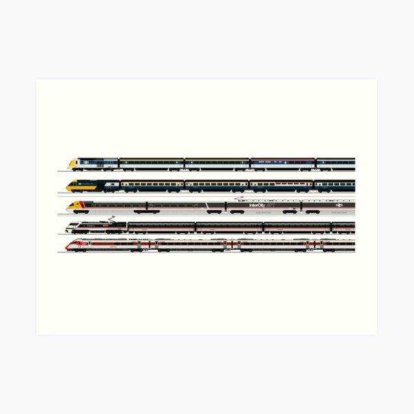 BRITISH HIGH SPEED TRAINS Art Print