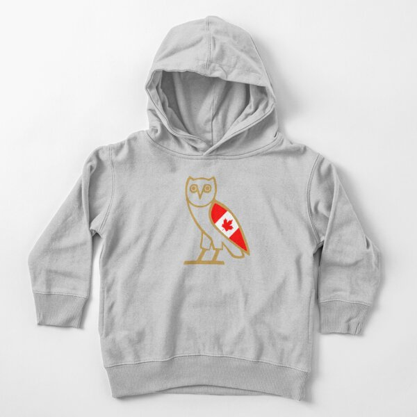 OVO - OWL Drake OVO Small Owl with Canada Flag Toddler Pullover Hoodie