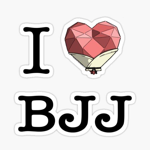 Pin-Sprites - I ❤️️ BJJ - Color Sticker