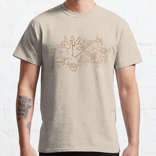 """ASL Alphabet"" in American Sign Language Classic T-Shirt"