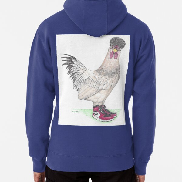 Jj Chicken in high tops Pullover Hoodie