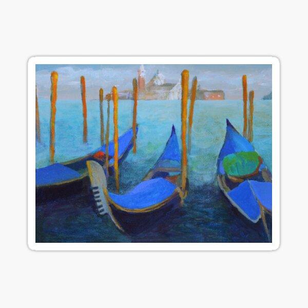 Gondolas on the Grand Canal in Venice Sticker
