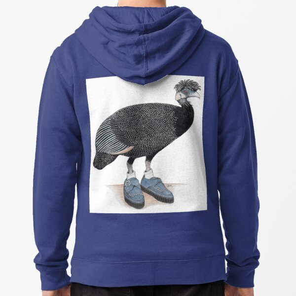 Guineafowl in rockabilly shoes Zipped Hoodie