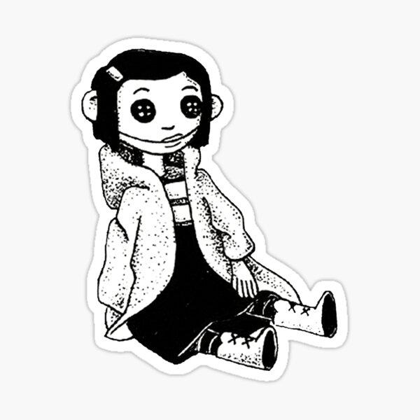 Coraline Inspired Doll Sticker