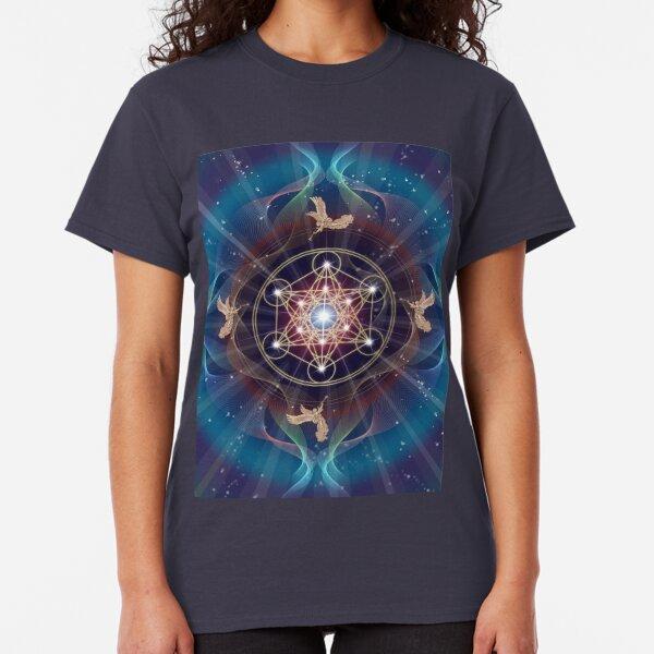 Metatron's Cube - Merkabah - Peace and Balance Classic T-Shirt