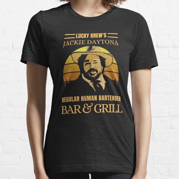 Lucky Brews Jackie Daytona Regelmäßige menschliche Barkeeper Bar und Grill Vintage Retro Essential T-Shirt