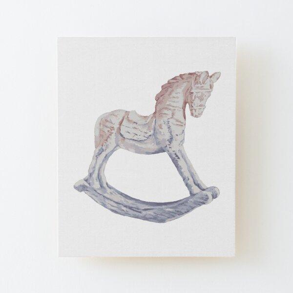 My Little Pony Rocking Horse Wood Mounted Print