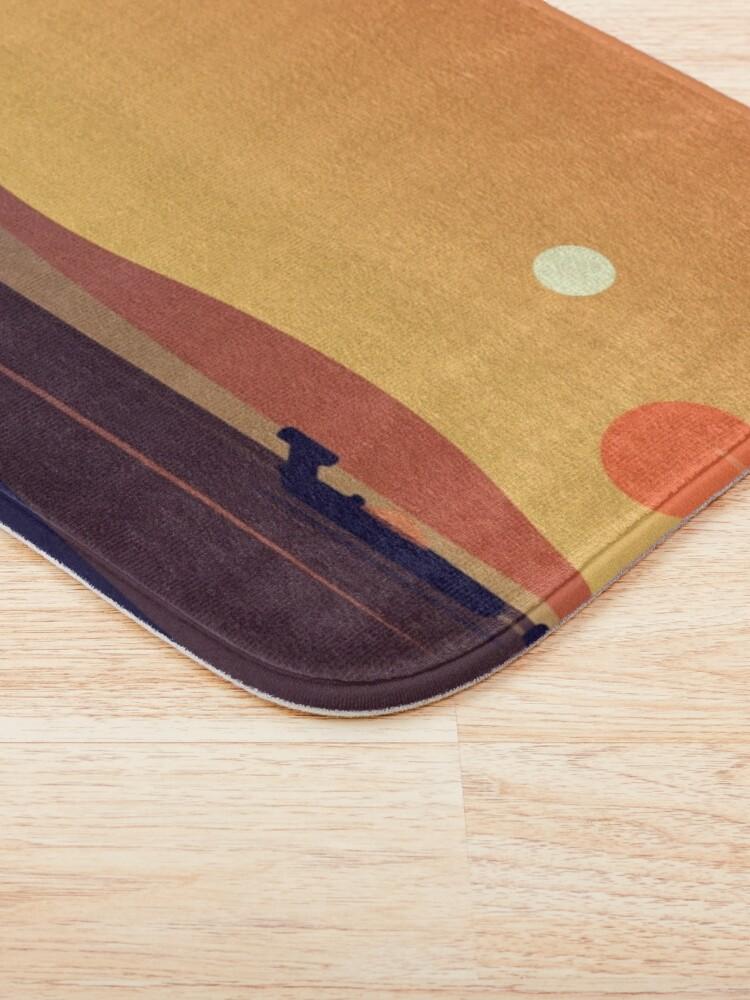 Alternate view of Tatooine Sunset Bath Mat