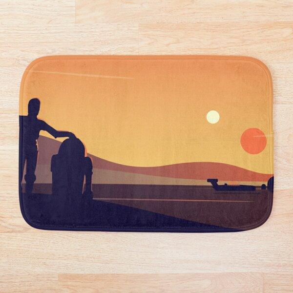 Tatooine Sunset Bath Mat